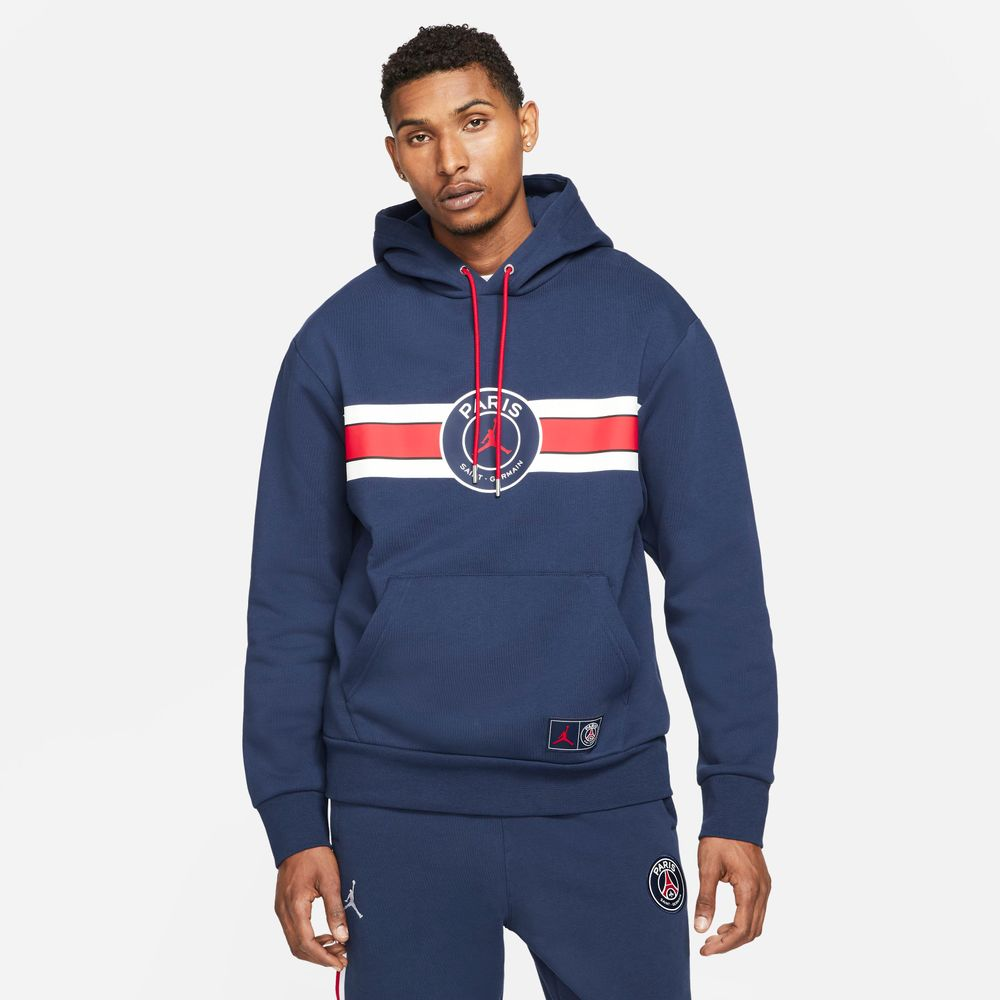 Paris-Saint-Germain-Men-s-Fleece-Pullover-Hoodie
