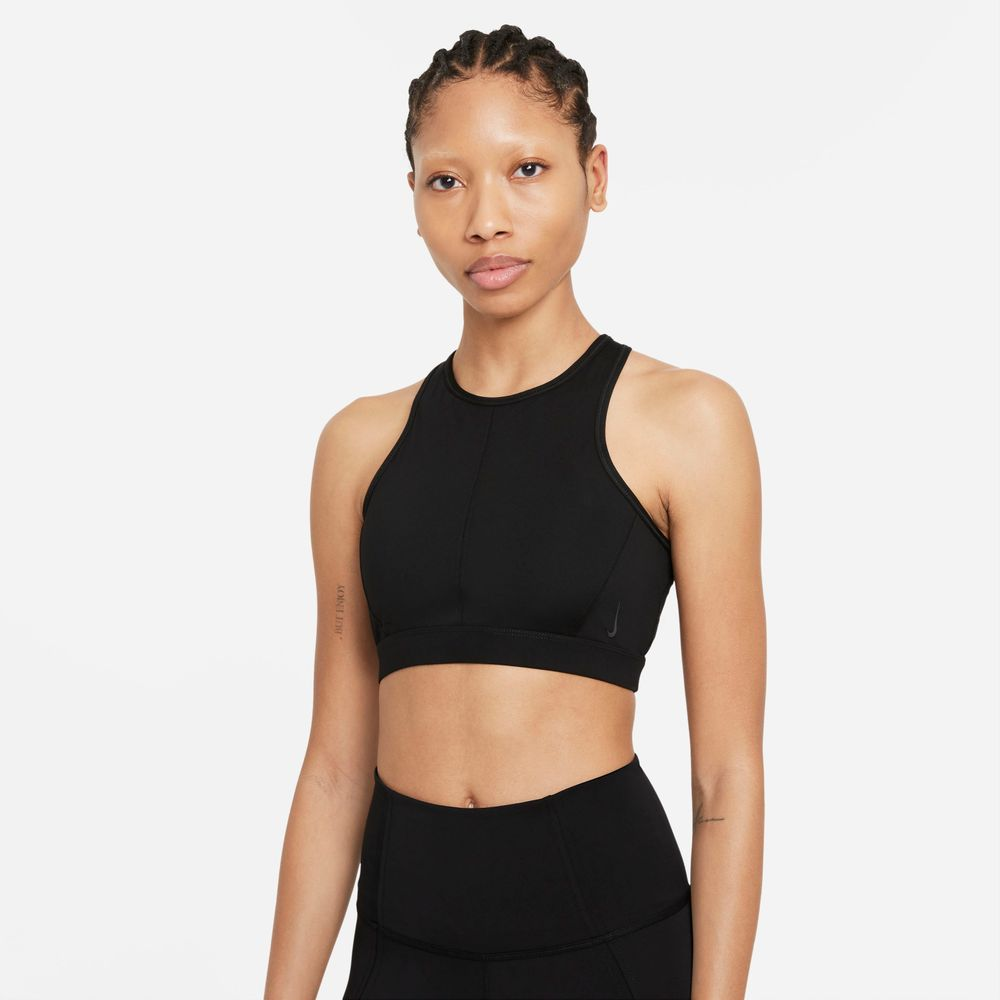 Nike-Yoga-Dri-FIT-Swoosh-Women's-Medium-Support-1-Piece-Pad-High-Neck-Sports-Bra